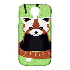 Red Panda Bamboo Firefox Animal Samsung Galaxy S4 Classic Hardshell Case (pc+silicone)