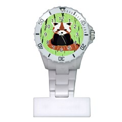 Red Panda Bamboo Firefox Animal Plastic Nurses Watch