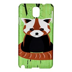 Red Panda Bamboo Firefox Animal Samsung Galaxy Note 3 N9005 Hardshell Case
