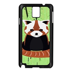Red Panda Bamboo Firefox Animal Samsung Galaxy Note 3 N9005 Case (Black)
