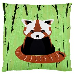 Red Panda Bamboo Firefox Animal Large Flano Cushion Case (two Sides)