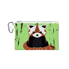 Red Panda Bamboo Firefox Animal Canvas Cosmetic Bag (S)