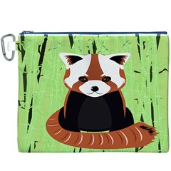 Red Panda Bamboo Firefox Animal Canvas Cosmetic Bag (xxxl)