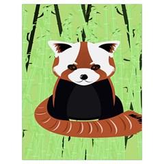 Red Panda Bamboo Firefox Animal Drawstring Bag (Large)
