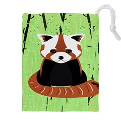 Red Panda Bamboo Firefox Animal Drawstring Pouches (XXL)