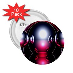 Red 3d  Computer Work 2.25  Buttons (10 pack)