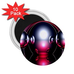 Red 3d  Computer Work 2.25  Magnets (10 pack)