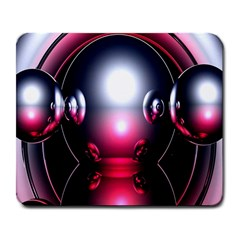 Red 3d  Computer Work Large Mousepads