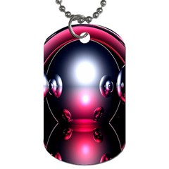 Red 3d  Computer Work Dog Tag (One Side)