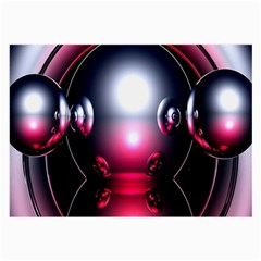 Red 3d  Computer Work Large Glasses Cloth (2-Side)