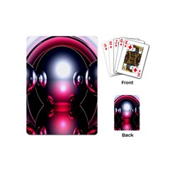 Red 3d  Computer Work Playing Cards (Mini)
