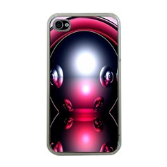 Red 3d  Computer Work Apple iPhone 4 Case (Clear)