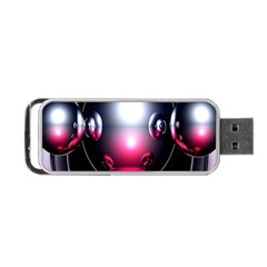 Red 3d  Computer Work Portable USB Flash (Two Sides)