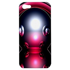 Red 3d  Computer Work Apple iPhone 5 Hardshell Case