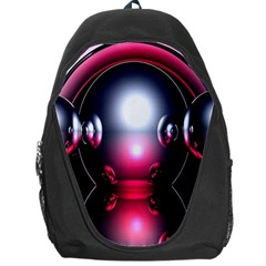 Red 3d  Computer Work Backpack Bag