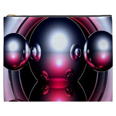 Red 3d  Computer Work Cosmetic Bag (XXXL)