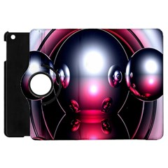 Red 3d  Computer Work Apple iPad Mini Flip 360 Case