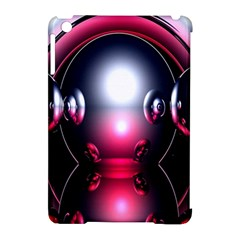Red 3d  Computer Work Apple Ipad Mini Hardshell Case (compatible With Smart Cover)