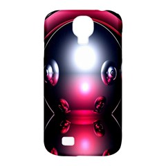 Red 3d  Computer Work Samsung Galaxy S4 Classic Hardshell Case (PC+Silicone)