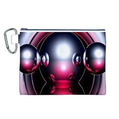 Red 3d  Computer Work Canvas Cosmetic Bag (L)