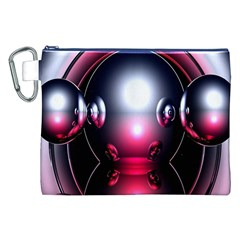 Red 3d  Computer Work Canvas Cosmetic Bag (xxl)