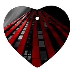 Red Building City Ornament (Heart)