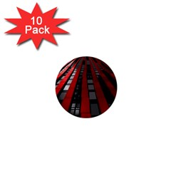 Red Building City 1  Mini Buttons (10 pack)