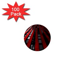 Red Building City 1  Mini Buttons (100 pack)