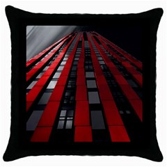 Red Building City Throw Pillow Case (Black)