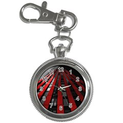 Red Building City Key Chain Watches