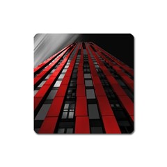 Red Building City Square Magnet