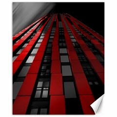 Red Building City Canvas 16  x 20