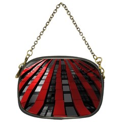 Red Building City Chain Purses (One Side)