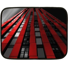 Red Building City Double Sided Fleece Blanket (Mini)