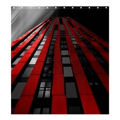 Red Building City Shower Curtain 66  x 72  (Large)