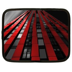 Red Building City Netbook Case (XL)