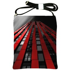 Red Building City Shoulder Sling Bags