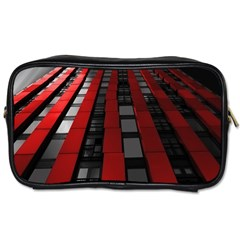 Red Building City Toiletries Bags