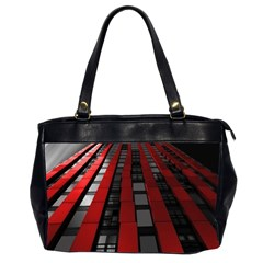 Red Building City Office Handbags (2 Sides)