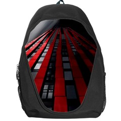 Red Building City Backpack Bag