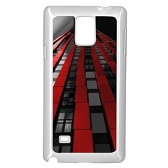 Red Building City Samsung Galaxy Note 4 Case (White)