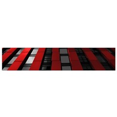 Red Building City Flano Scarf (Small)