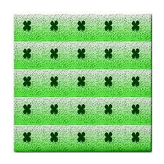 Shamrock Pattern Background Tile Coasters