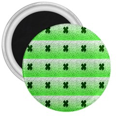Shamrock Pattern Background 3  Magnets