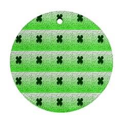 Shamrock Pattern Background Ornament (Round)