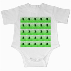 Shamrock Pattern Background Infant Creepers