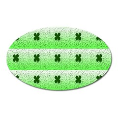 Shamrock Pattern Background Oval Magnet