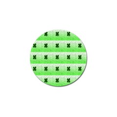 Shamrock Pattern Background Golf Ball Marker (4 pack)