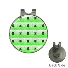 Shamrock Pattern Background Hat Clips with Golf Markers