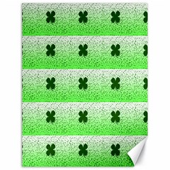 Shamrock Pattern Background Canvas 18  x 24